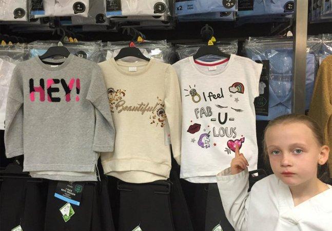Esta garotinha manifestou toda sua revolta com o sexismo das roupas infantis da melhor maneira