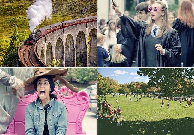 Está chegando o 'Festival Harry Potter' e você precisa pegar o 'Expresso de Hogwarts' para ir até lá