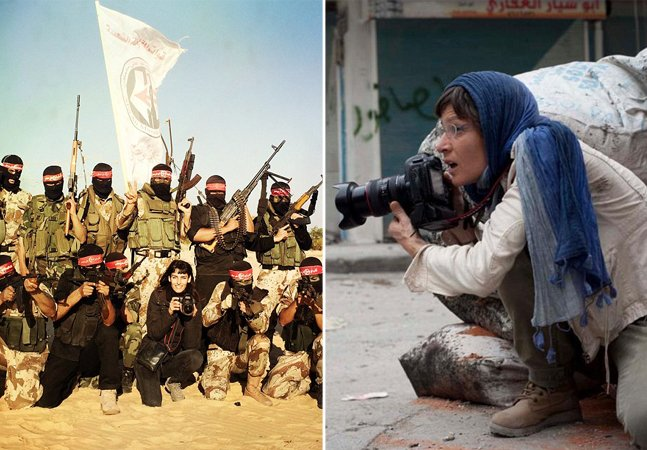Exposição reúne o corajoso e impactante trabalho de mulheres como fotojornalistas de guerra