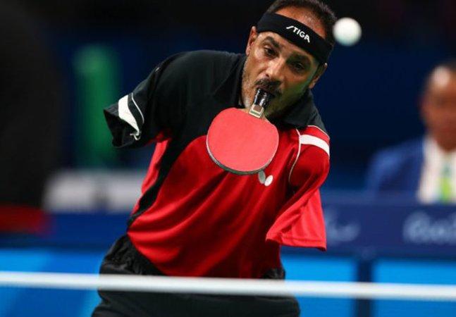 O atleta paralimpíco que inspirou a todos jogando tênis de mesa com a boca