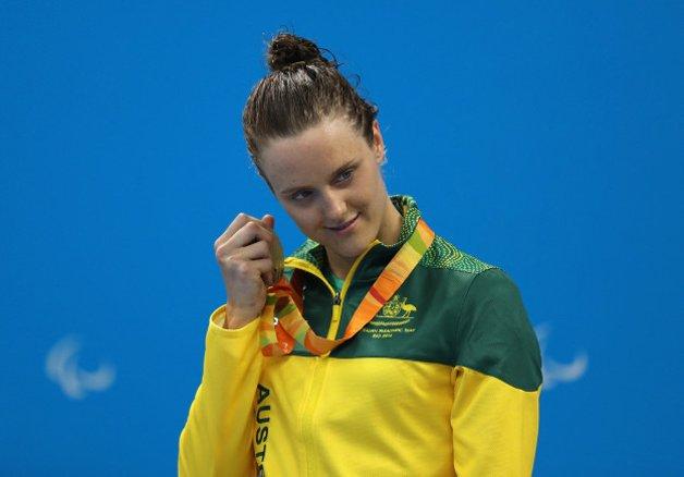 A nadadora australiana Ellie Cole e o som da prata