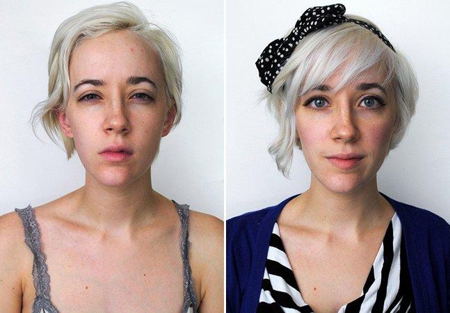 Série de autorretratos mostra a diferença entre o que somos ao acordar e o que mostramos para o mundo