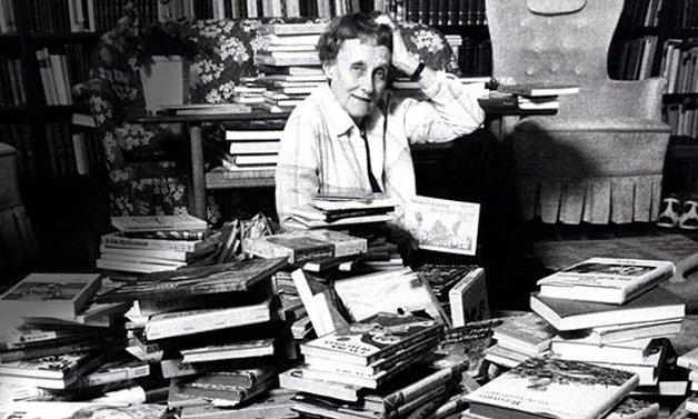 A autora Astrid Lindgren