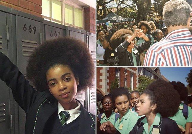 Meninas sul-africanas protestam contra proibição de cabelo afro em escola que agora vai ser investigada