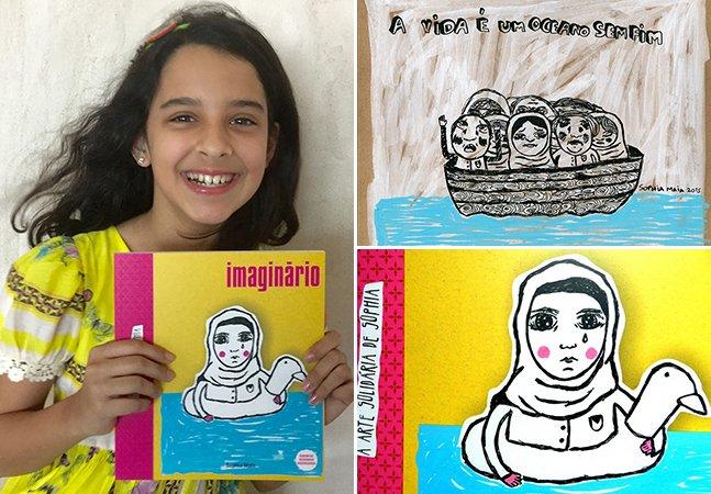 Pernambucana de 10 anos lança livro de ilustrações em homenagem – e doando a renda – a refugiados