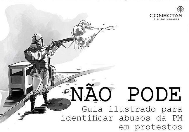 Manual ilustrado ajuda a identificar abusos policiais em protestos