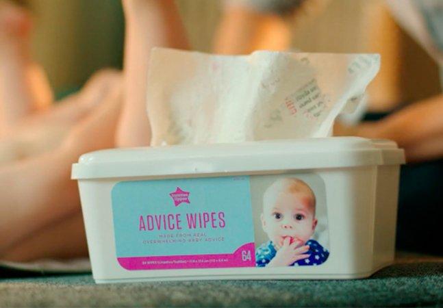Estes gênios transformaram comentários sobre o que uma mãe deve fazer em algo realmente útil: lencinhos umedecidos