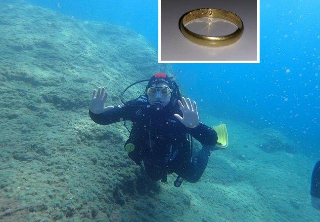Aliança é encontrada no mar 37 anos depois e devolvida aos donos com a ajuda do Facebook
