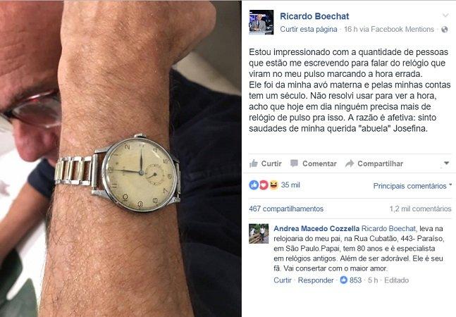 Jornalista dá a melhor resposta para quem questionou o fato do seu relógio marcar a hora errada