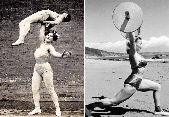 As poderosas mulheres musculosas do início do século 20