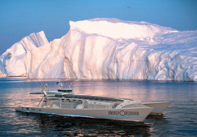 Movido a energia eólica, solar e hidrogênio, este barco vai dar a volta ao mundo