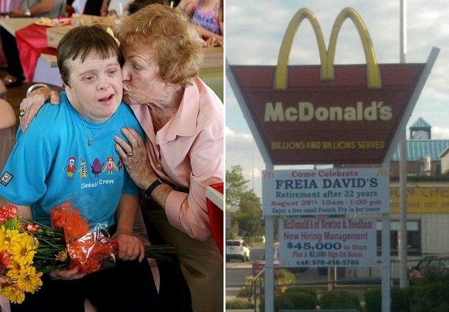 A emocionante festa de despedida da mulher com Síndrome de Down que trabalhou no McDonald's por 32 anos