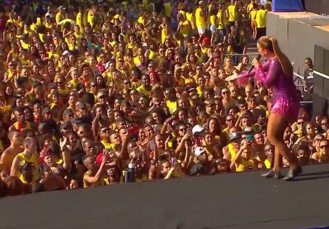 Ivete Sangalo dá bronca em fã grávida durante show em Salvador