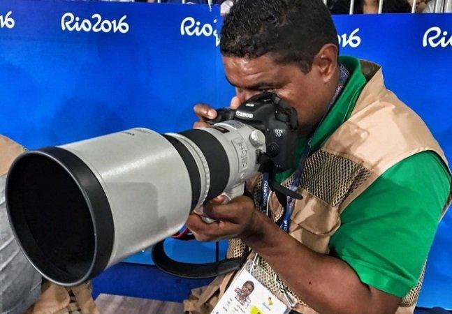 'Meus olhos estão no coração': as  maravilhosas imagens captadas pelo fotógrafo cego nas Paralimpíadas
