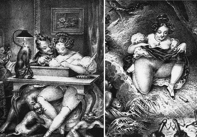 Ilustrações antigas mostram o sexo retratado como 'coisa do diabo'
