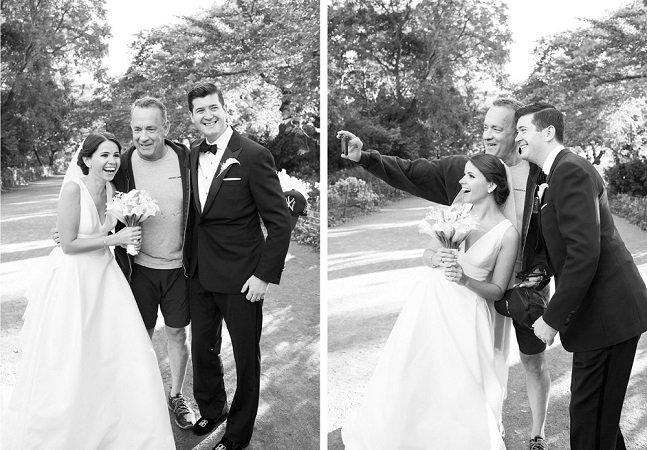 Este casal teve suas fotos de casamento invadidas por Tom Hanks