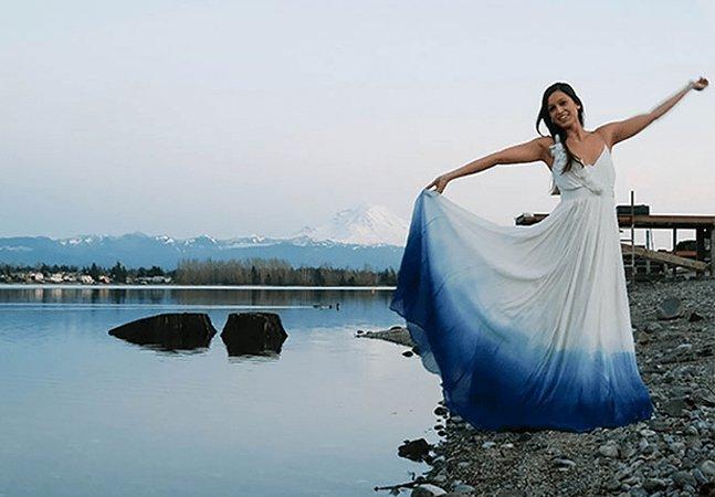 Vestidos de noiva que lembram tie-dye estão levando a internet à loucura