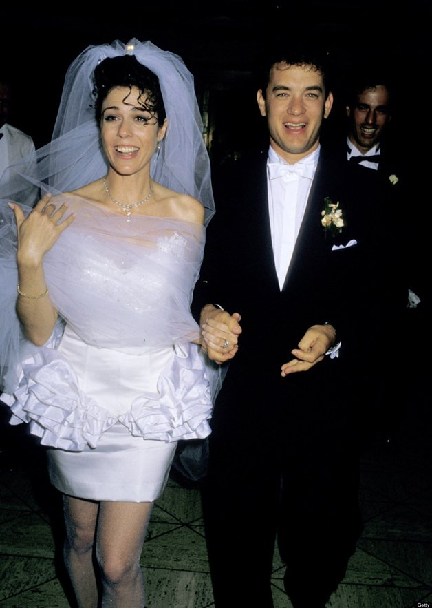 Rita Wilson and Tom Hanks during Tom Hanks and Rita Wilson Wedding Reception at Rex's, California, United States. (Photo by Ron Galella/WireImage)