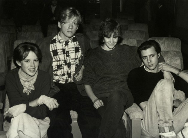 Molly Ringwald, Anthony Michael Hall, Ally Sheedy and Judd Nelson on Jan. 1, 1990. Time & Life Pictures/Getty Images)