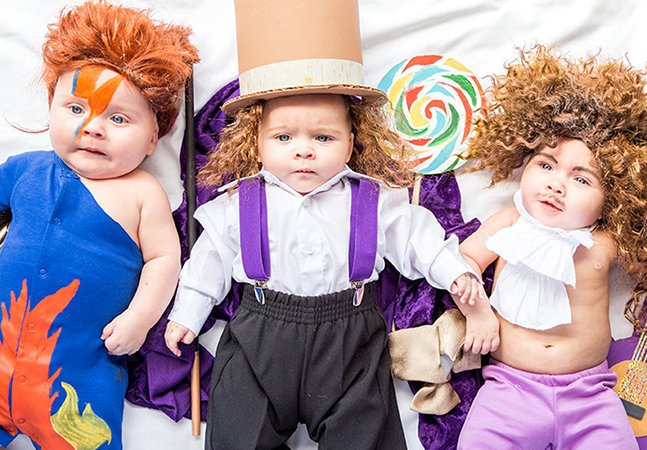 Estes trigêmeos são os reis da fantasia e estão conquistando a internet com sua preparação para o Halloween