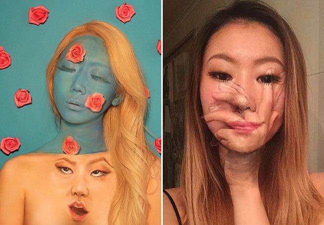 Artista sul-coreana faz selfies surrealistas deslumbrantes no Instagram