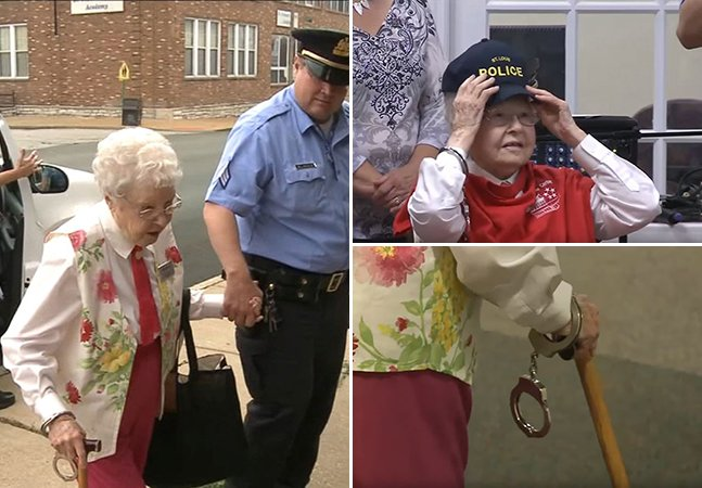 Esta velhinha de 102 anos foi presa só para realizar mais um dos seus 'sonhos de vida'