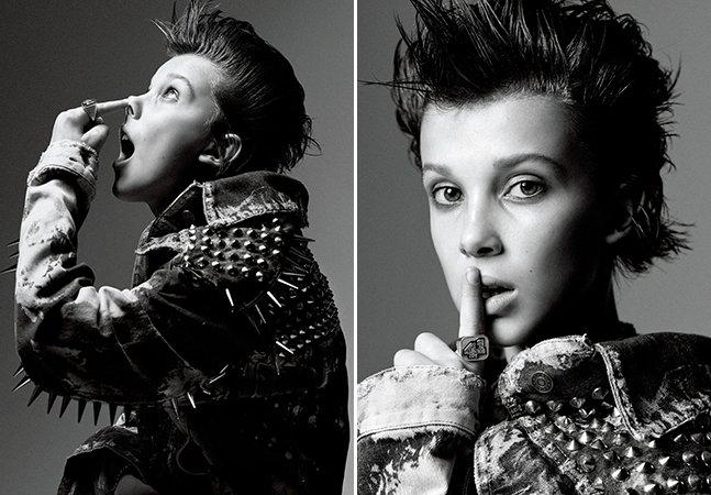 'Eleven' de Stranger Things simplesmente arrasa na sua primeira capa de revista, aos 12 anos