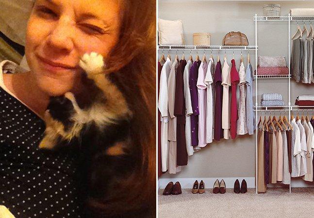 Ela está se propondo a arrumar os guarda-roupas dos amigos em troca de doações para instituições de caridade