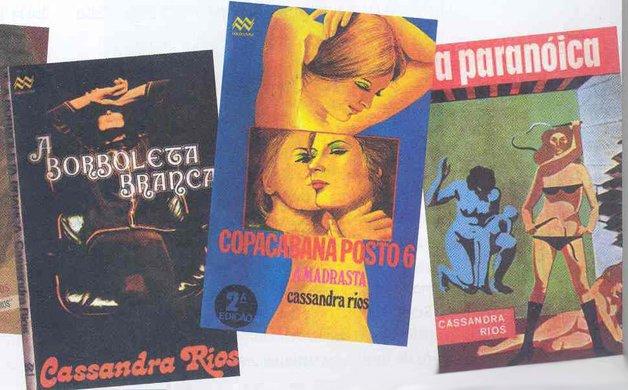 Alguns dos títulos de Cassandra Rios