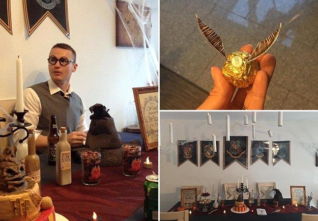 Essa festa de aniversário com o tema 'Harry Potter' parece mesmo ter acontecido em Hogwarts
