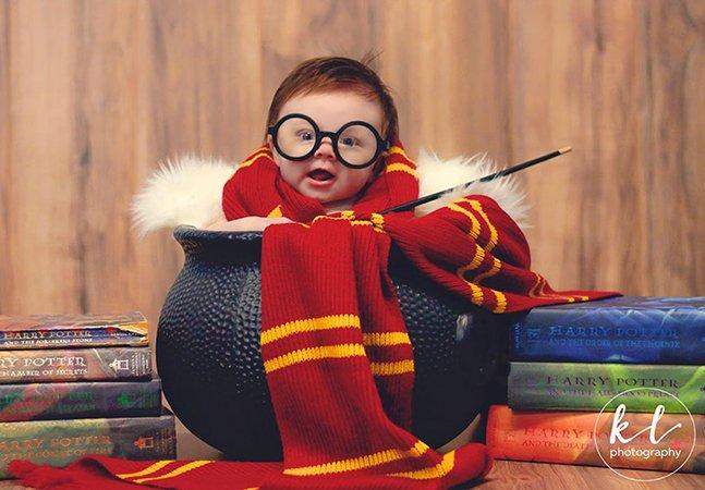 Este garoto teve um álbum inspirado em Harry Potter e o resultado foi para lá de fofo