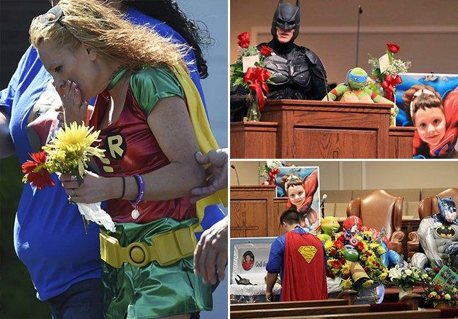 Menino morto em ataque à sua escola tem funeral tocante inspirado em super-heróis