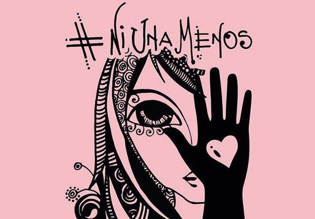Depois do assassinato da jovem argentina, artistas criam ilustrações condenando a violência contra a mulher
