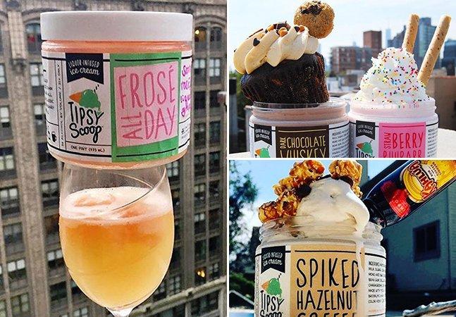 Startup de Nova York junta o melhor dos dois mundos e cria o sorvete feito de bons drinks