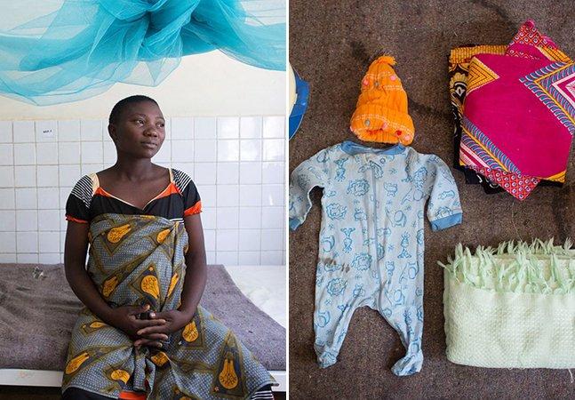 Série fotográfica expõe desigualdade ao mostrar as coisas que mulheres pelo mundo levam na mala para o parto