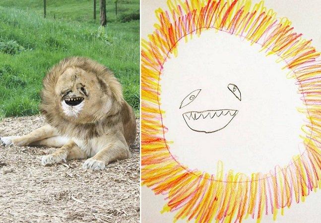 Ele transformou os desenhos de seu filho em animais de verdade