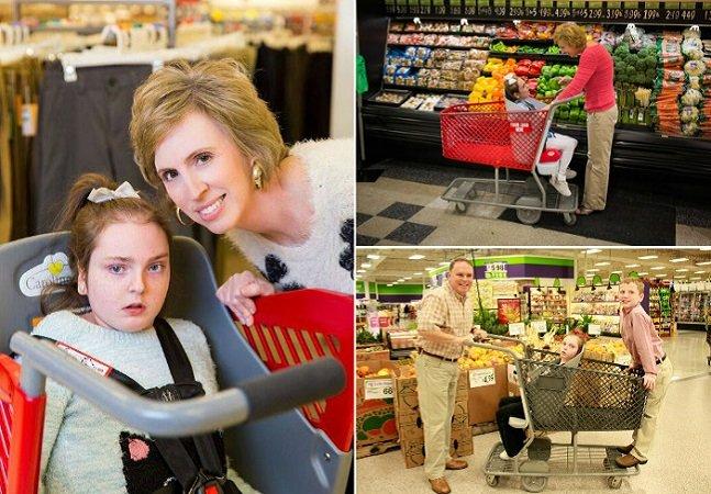 O amor desta mãe a fez criar um carrinho de supermercado para crianças com necessidades especiais