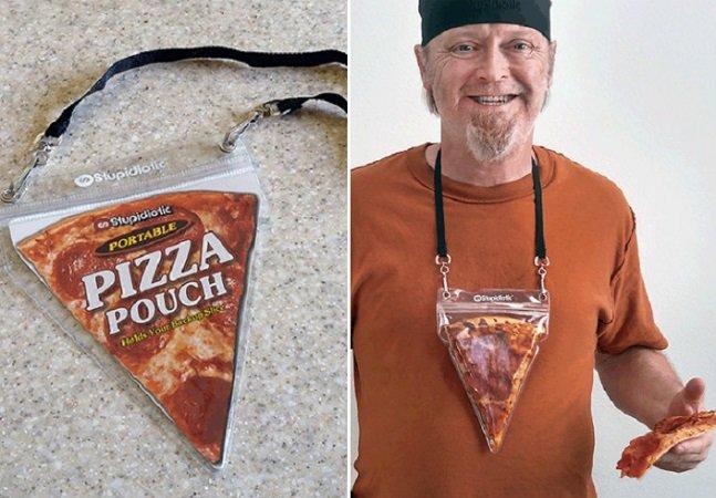 Este colar te permite andar sempre com uma fatia de pizza para qualquer 'emergência'