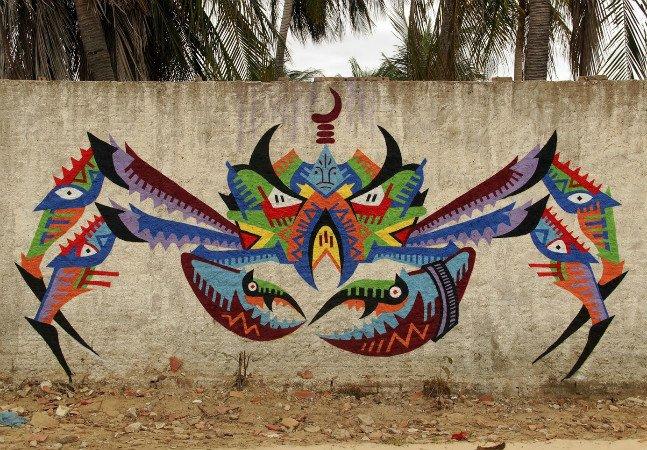 Artista urbano cria intervenção para defender a vida em comunidade quilombola