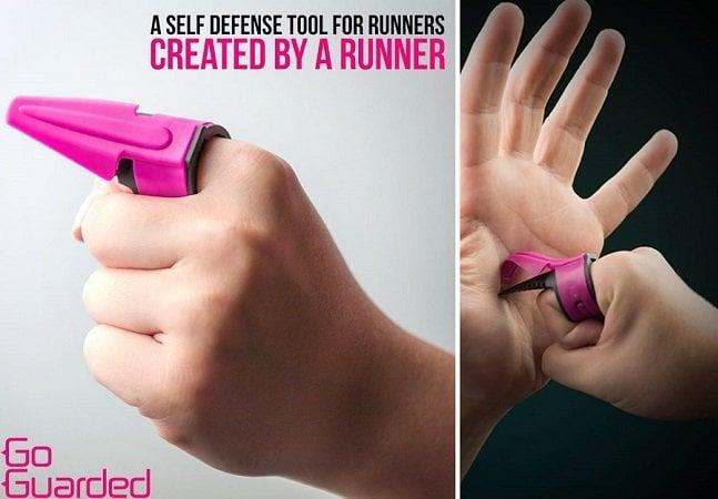 Este anel vira uma discreta arma de autodefesa para mulheres que correm sozinhas