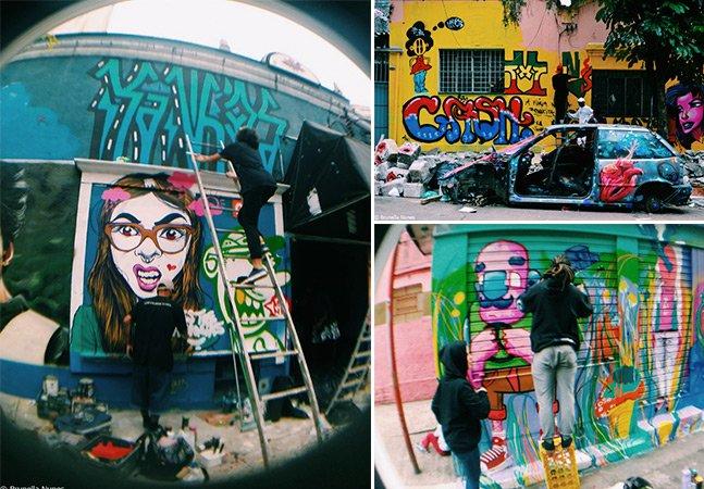 Em São Paulo, tradicional bairro do Bixiga ganha novas cores com invasão de graffiti