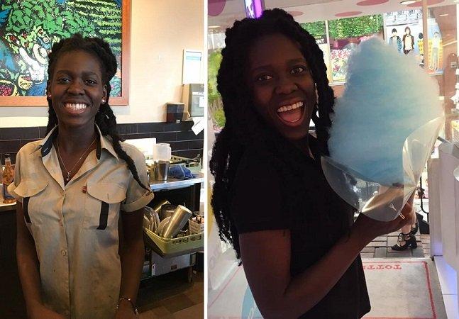 Ela deu a melhor resposta quando uma cliente pediu para ser servida por uma barista branca