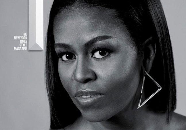 Michelle Obama diva em capa que é uma ode à beleza e ao empoderamento da mulher negra