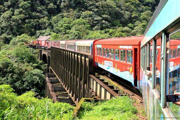 Uma das 55 pontos pelas quais o trem passa no trajeto. Foto: Divulgação