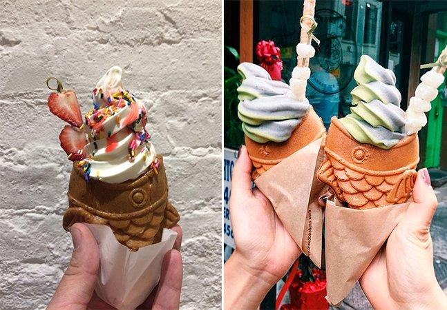 É peixe? É sorvete? Conheça o Taiyaki Ice Cream, a nova sensação da internet