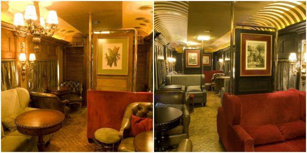 Interior do vagão de luxo do Serra Verde Express. Foto: Divulgação