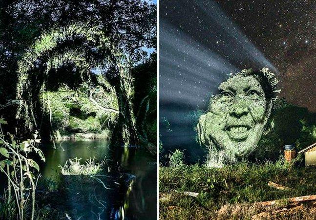 Artista cria primeira street art na Amazônia contra o desmatamento e pelas populações indígenas