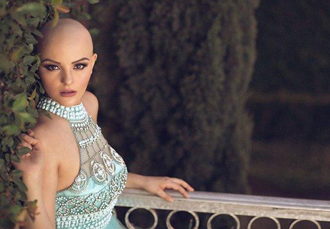 Ensaio inspirador retrata a força de uma jovem que luta contra o câncer