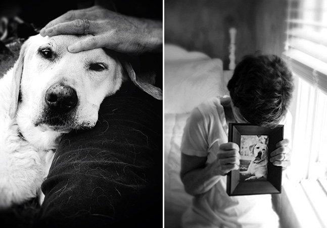 A emocionante homenagem de uma fotógrafa ao seu cachorro
