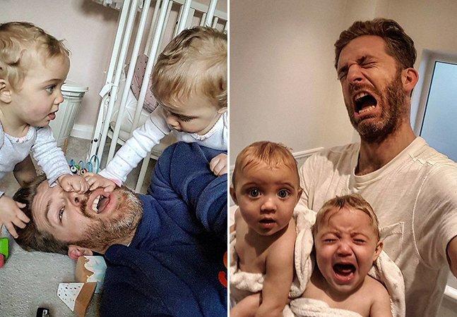 Este pai tem 4 filhas e está conquistando a internet ao compartilhar seu cotidiano em família